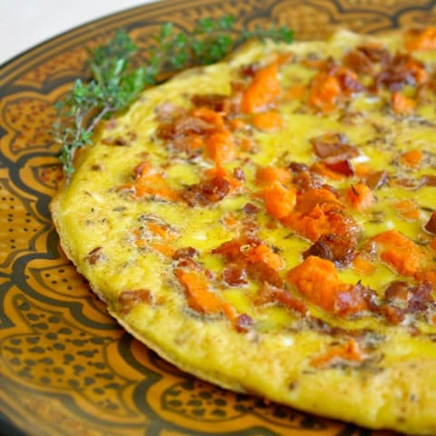 Yam and Bacon Frittata