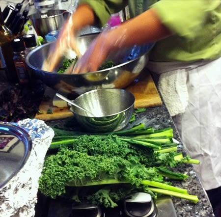 Kale Salad Demonstration