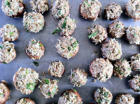 Whole Wheat Stuffed Mushrooms