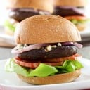 Grilled Portobello Blue Cheese Burgers