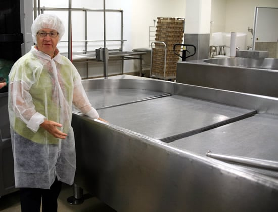 Jennifer and the Chevre-draining racks