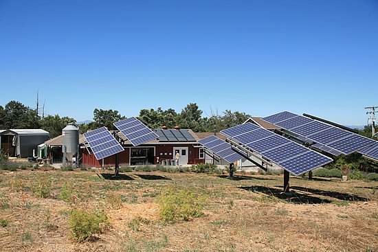 Solar Panels at Redwood Hill Farm