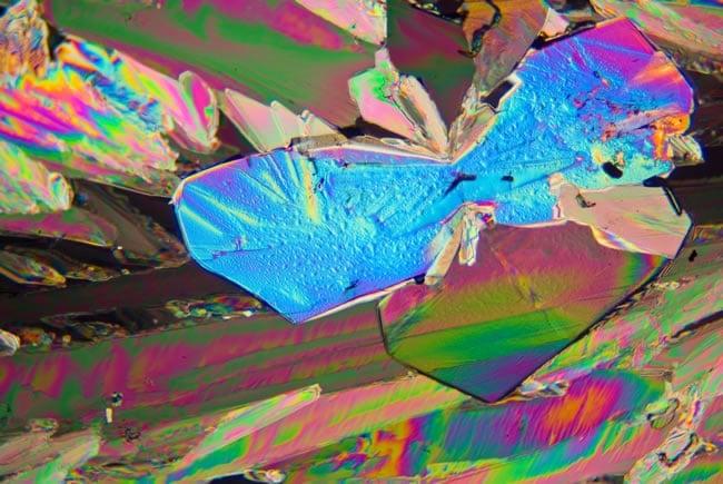 Citric Acid under polarized light