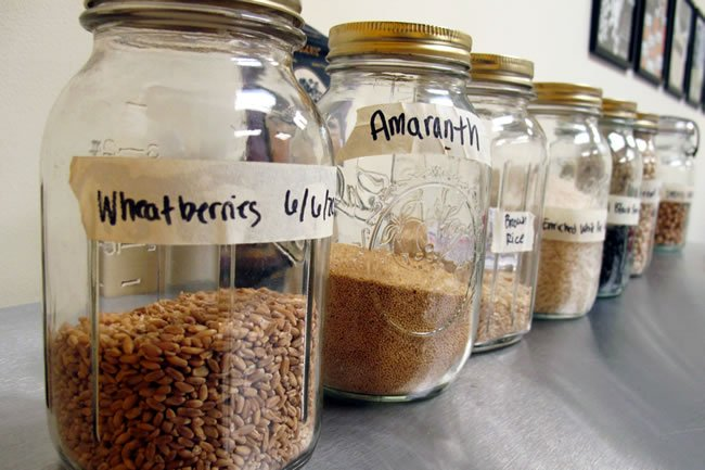 Jars of Whole Grains