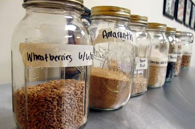 Jars of Whole Grains
