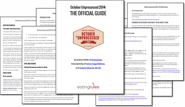 The Official Guide to October Unprocessed 2014