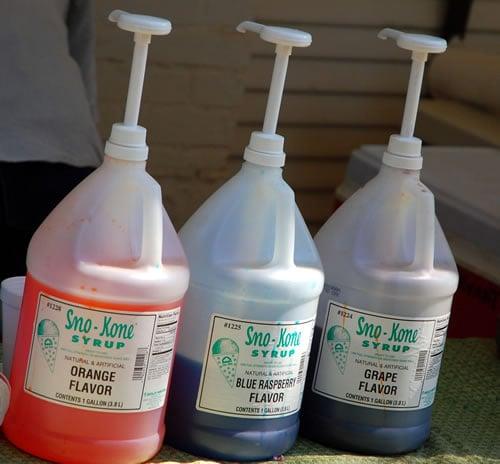 Sno-Kone Syrups - Natural & Artificial Flavors