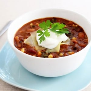 Three Bean Sweet Potato Chili