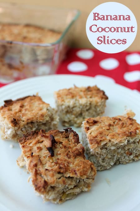 Banana & Coconut Slices