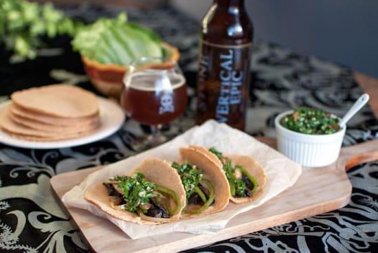 Beer-Marinated Portobello Tacos