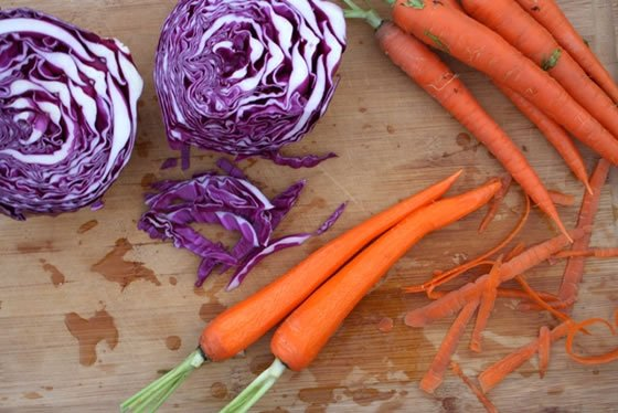 Teaching Kids Food Literacy - with this Carrot, Cabbage & Raisin Citrus Salad