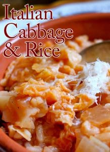 Italian Cabbage and Rice Recipe
