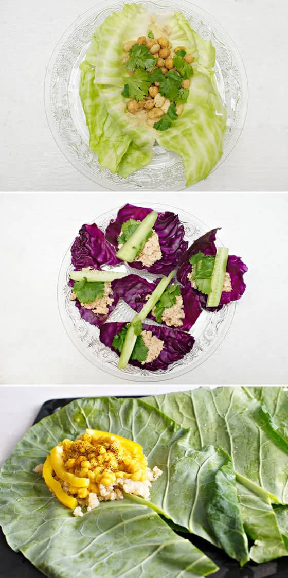 Leafy Wraps: Lettuce, Cabbage, and Collard