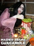 """Mashed Brains"" Guacamole for Halloween"
