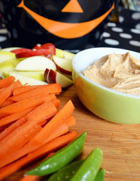Pumpkin Dip with Veggies