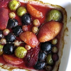 Roasted Fruit with Pomegranate Molasses