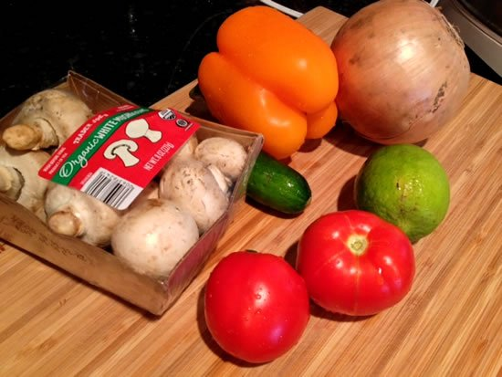Ingredients for Sofrito