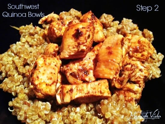 Add chicken or beans for your Southwestern Quinoa Bowl