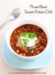 Three Bean Sweet Potato Chili