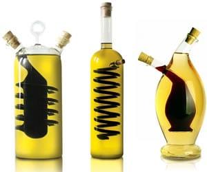 Hand-Blown Oil & Vinegar Cruets