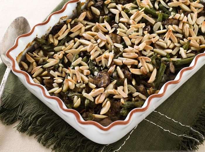 Green Bean Casserole with Smoked Cheddar