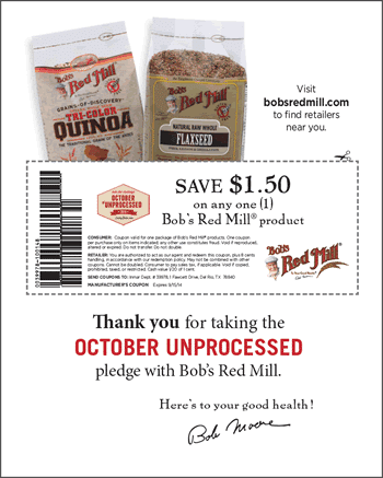 Save $1.50 with Bob's Red Mill