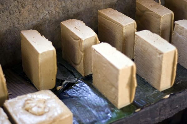 Blocks of rapadura sugar ready for packaging