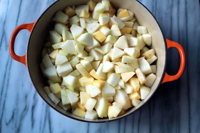 Chopped Apples and Pears