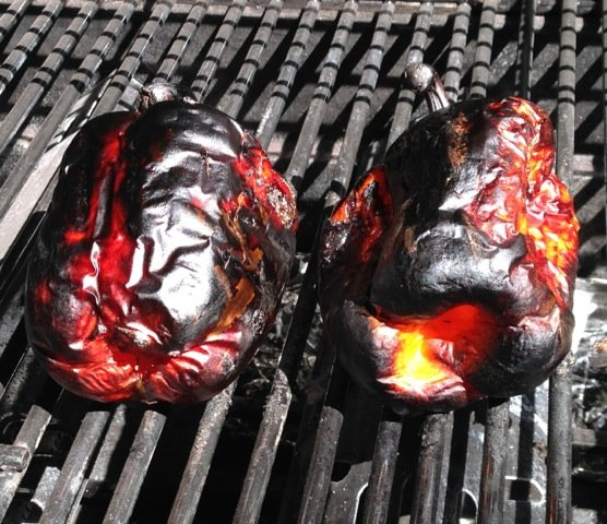 Grilled Red Peppers