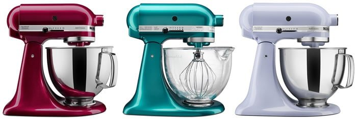 New KitchenAid Colors: Bordeaux, Lavender, Sea Glass