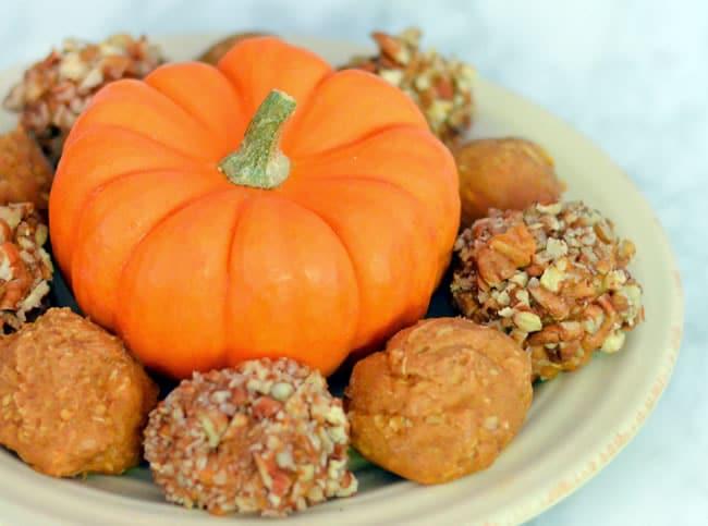 Vegan Pumpkin Peanut Butter Balls