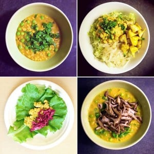 Chana Dal Four Ways