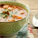 Creamy Chicken, Tomato, and Vegetable Soup