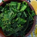 Bitter Dandelion Greens with Lemon and Olive Oil