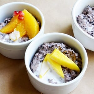 Forbidden Black Rice Coconut Pudding
