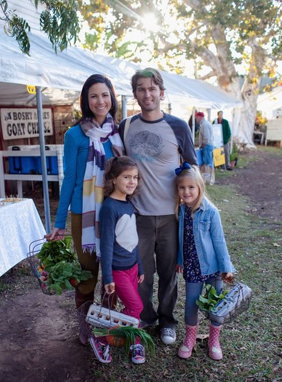 Leake Family at the Farmers Market