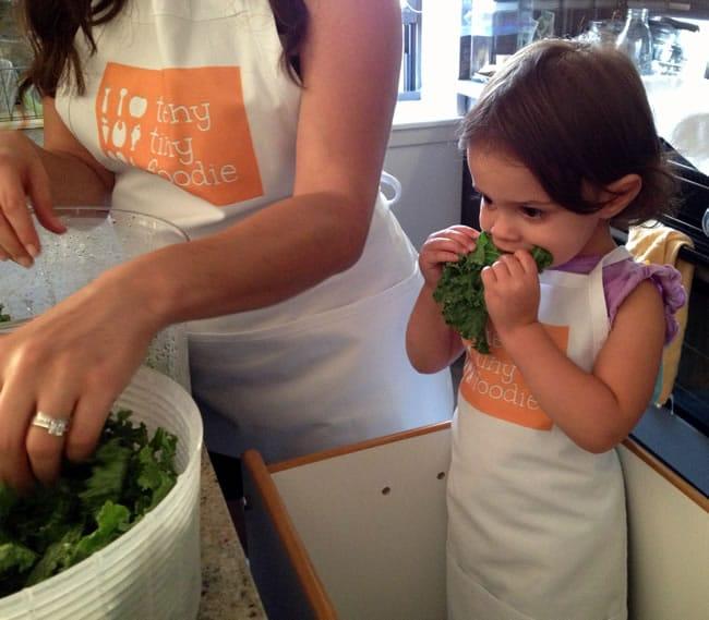 Making Kale Chips