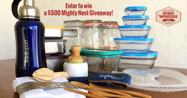 $500  Mighty Nest October Unprocessed Giveaway