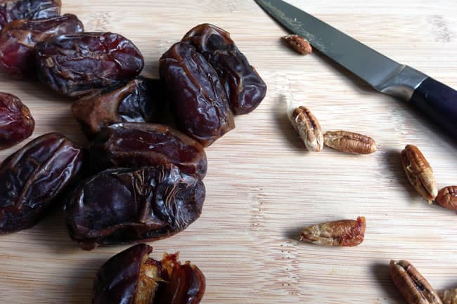 Pitting Medjool Dates