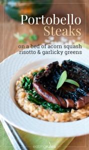 Portobello Steaks Acorn Squash