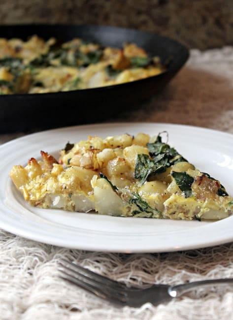 Roasted Potato and Kale Frittata