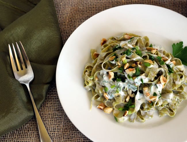 Whole Wheat Parsley Fettucine
