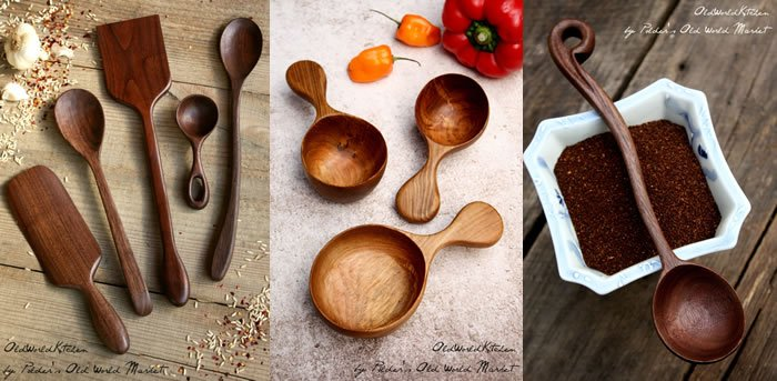 Polder's Old World Market Wooden Kitchen Utensils