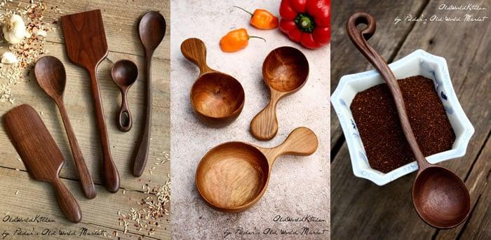 Polder's Old World Market Wooden Kitchen Utensils