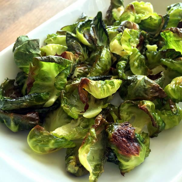 Finished Brussels Sprout Chips