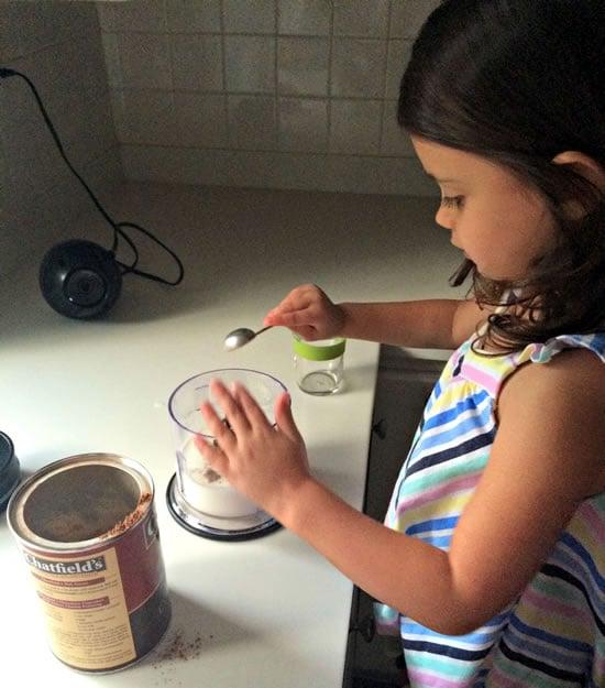 Making Chocolate Milk