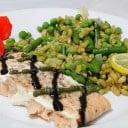 Kamut with Asparagus, Peas, and Roasted Lemon