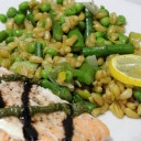 Kamut with Asparagus, Peas, and Roasted Lemon