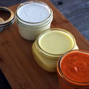 Three Plant-Based, Vegan Sauces