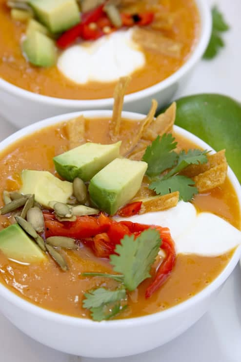 Fall Fiesta Sweet Potato Chorizo Soup
